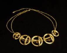 Swarovski gold necklace