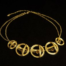 Swarovski gold necklace