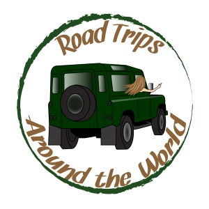Road trip logo rond - brown & green-01