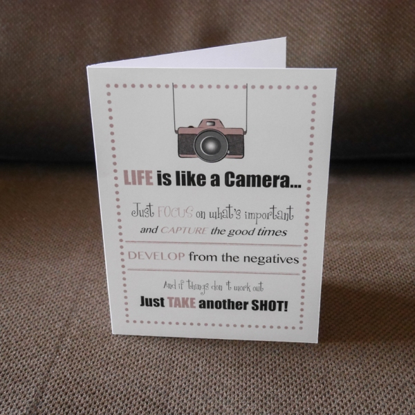 Life is like a Camera card