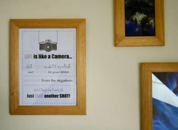 Life is like a Camera wall
