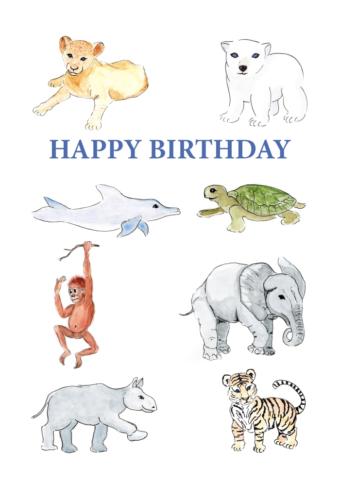 Happy BDay - endangered species card 300 dpi