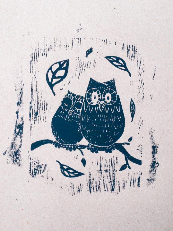 Linoleum -Lisa owls