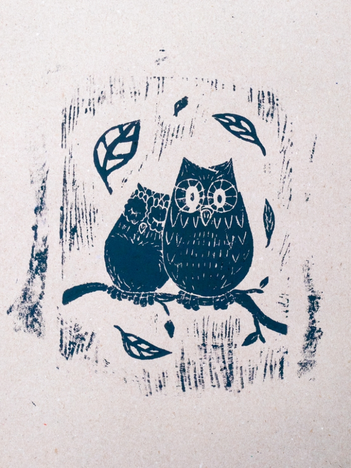 Linoleum -Lisa owls