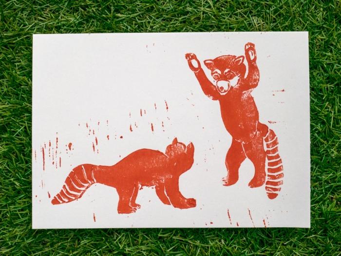 Linoleum -red pandas