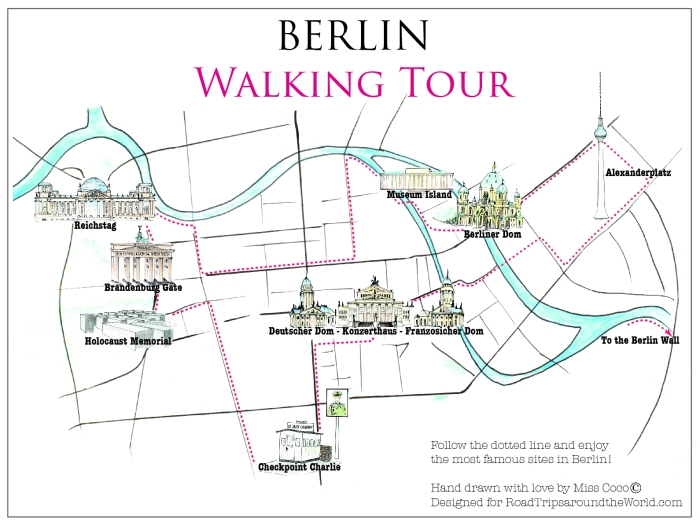 Berlin Map designed by Micc Coco - beautifulthings-photography.com