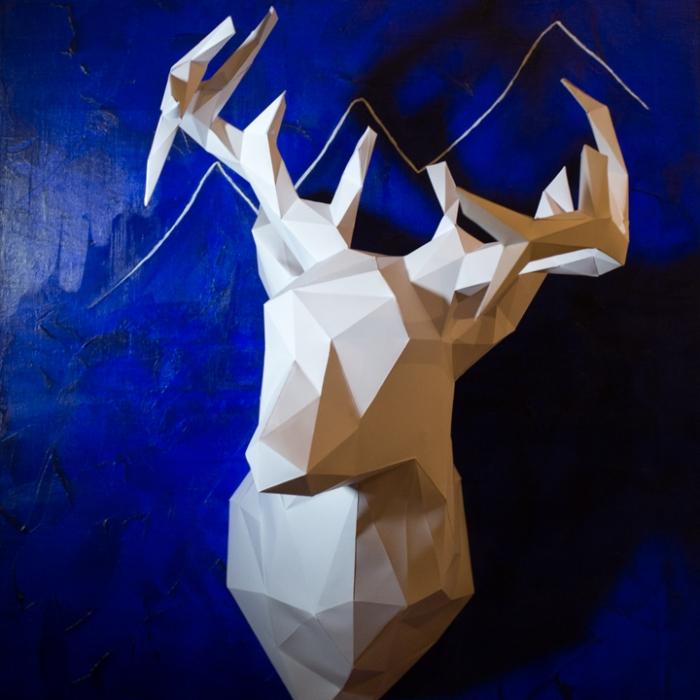 Paper Deer Head finished