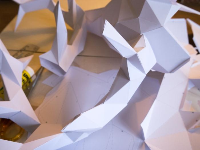 Paper deer - Montage