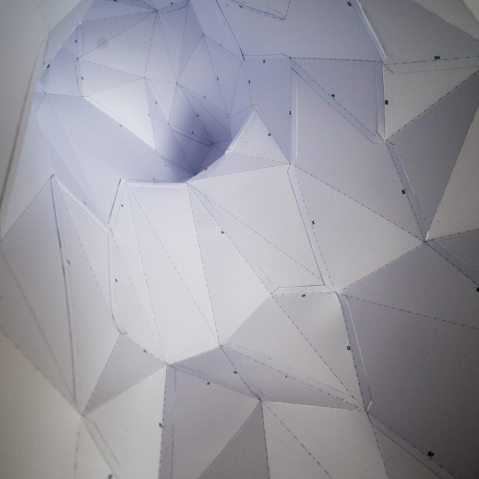 The Paper Deer head is a work of art