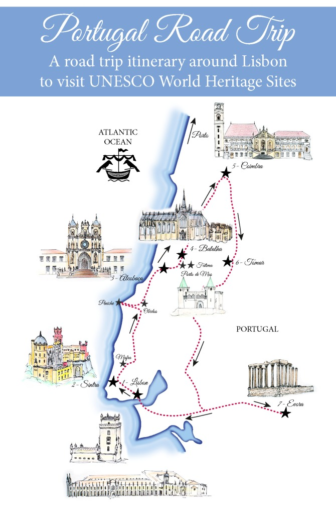 A Portugal Road Trip Map - Learn more on www.RoadTripsaroundtheWorld.com