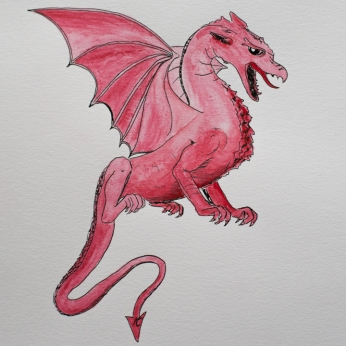 dragon-by-miss-coco-original-drawing