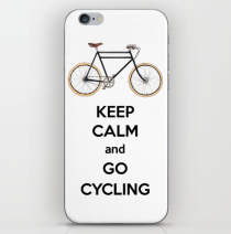 Keep Calm and Go Cycling - iPhone Case designed by Miss Coco