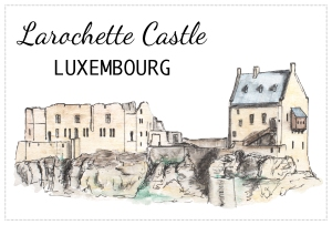 Drawing - Larochette Castle, Luxembourg - Free to download on www.RoadTripsaroundtheWorld.com
