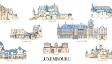 Castles of Luxembourg - Card free to download on www.RoadTripsaroundtheWorld.com