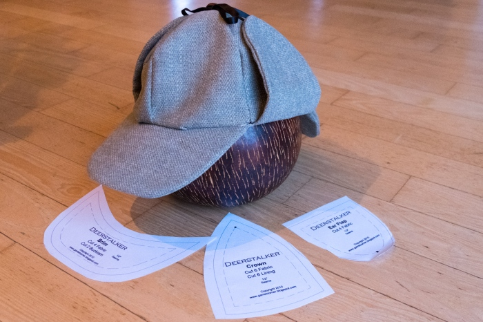 A sherlock holmes hat - deerstalker by Miss Coco