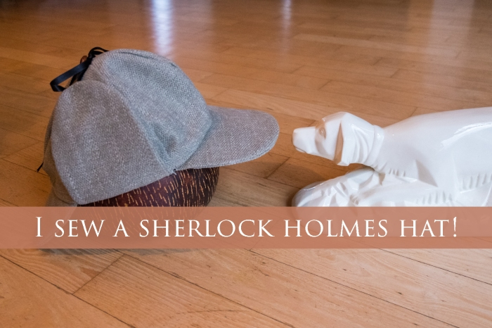 I sew a Sherlock Holmes hat! - by Miss Coco