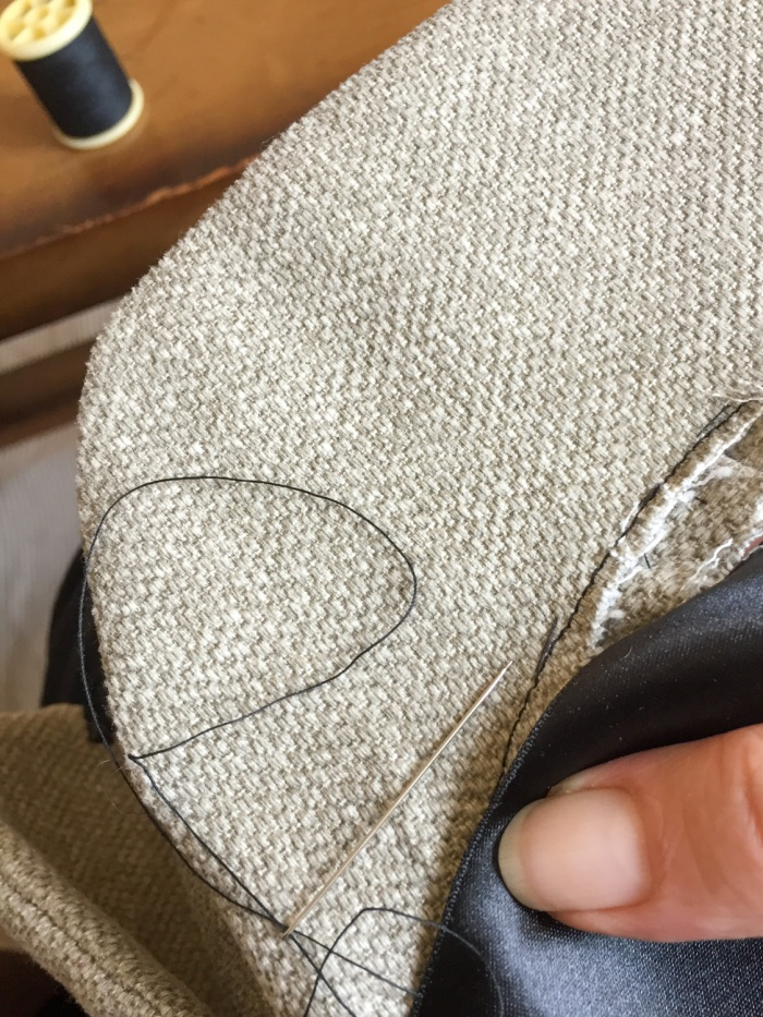 I sew a sherlock holmes hat - finishing up the deerstalker by Miss Coco