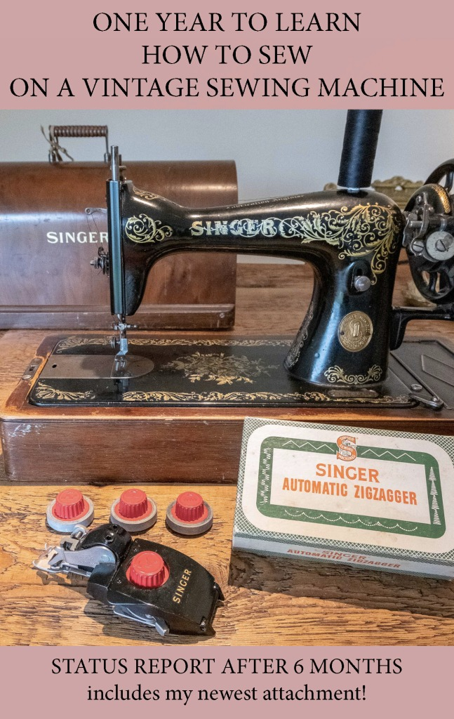 One year to learn how to sew with a vintage sewing machine - Singer 15K from 1923