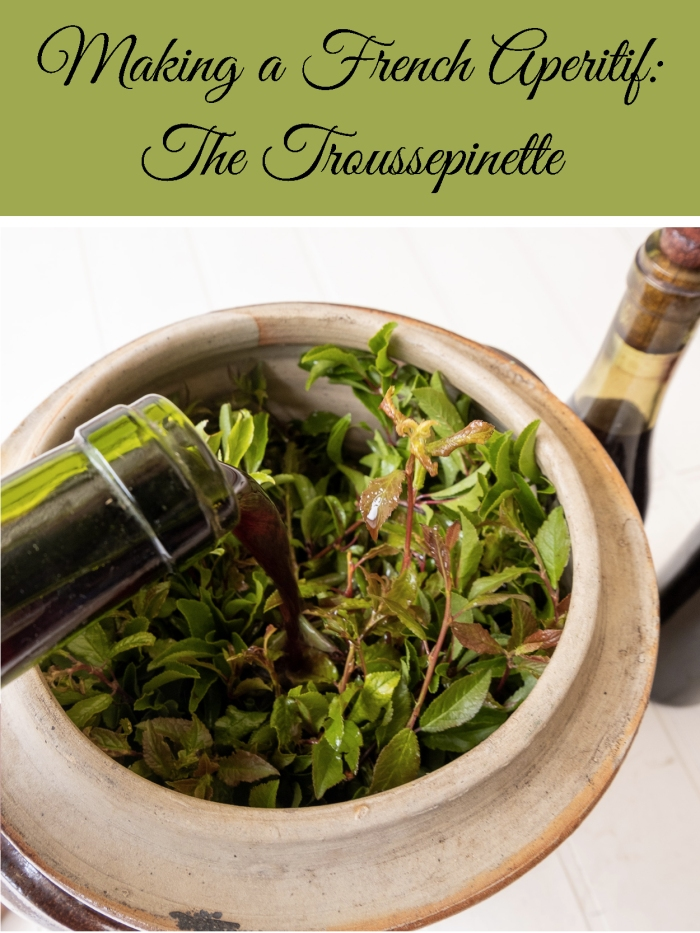 Making a French aperitif - the Troussepinette - home made recipe