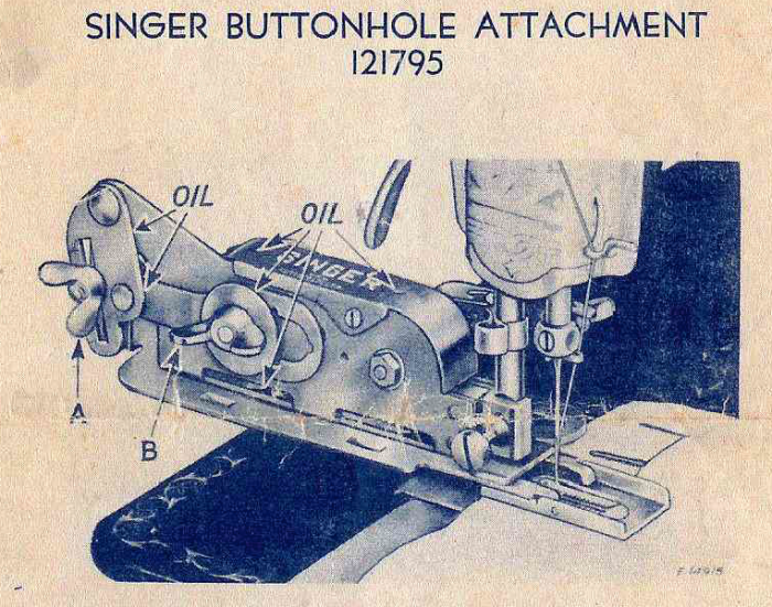 Singer buttonholer 121795 left side