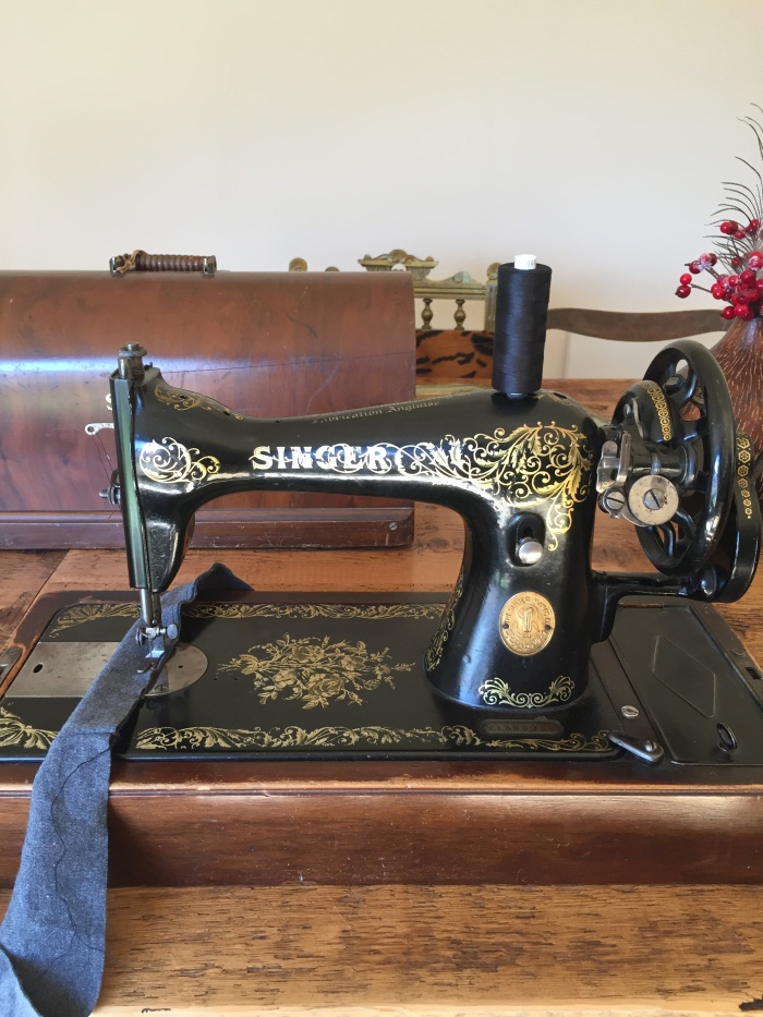 The joy fo sewing on a vintage sewing machine