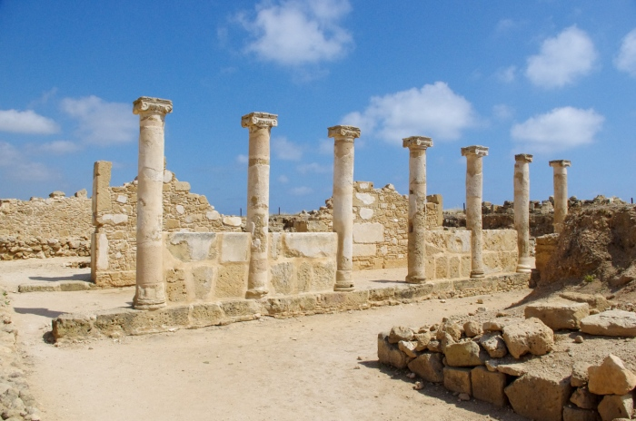 Colonnade bordering the forum near the House of Theseus - Paphos, Cyprus