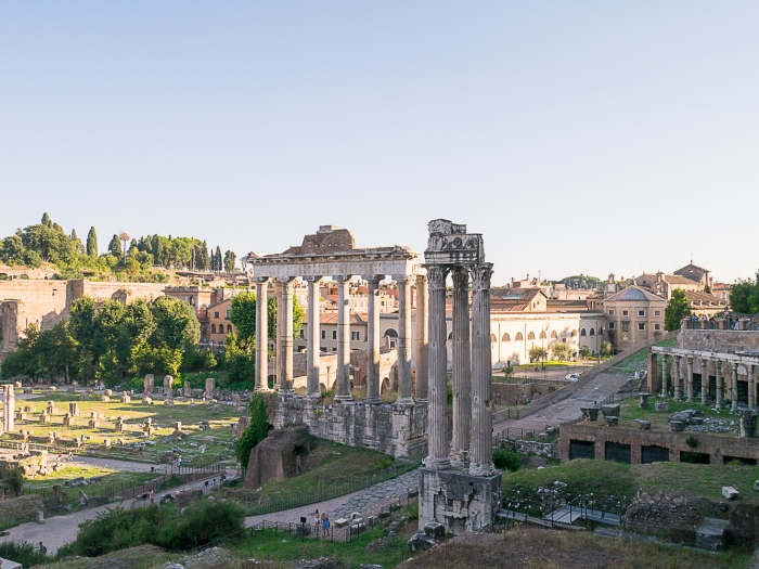 The Saturn and Concorde temples - Rome,Italy