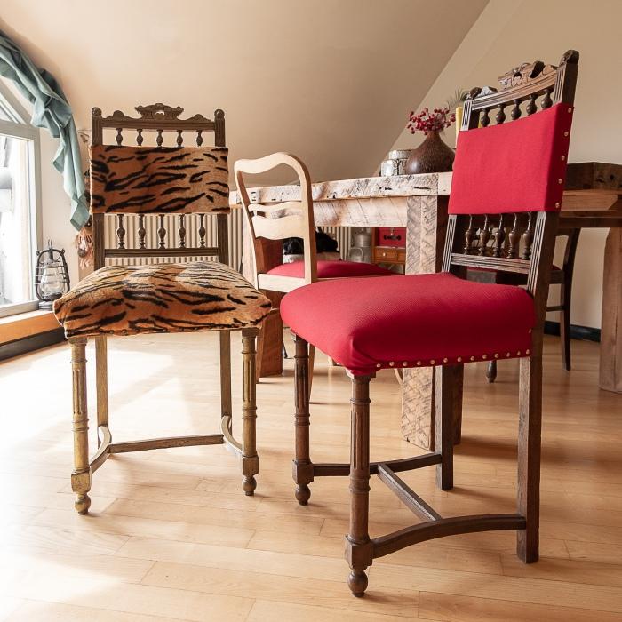 Henri II chairs upcycled