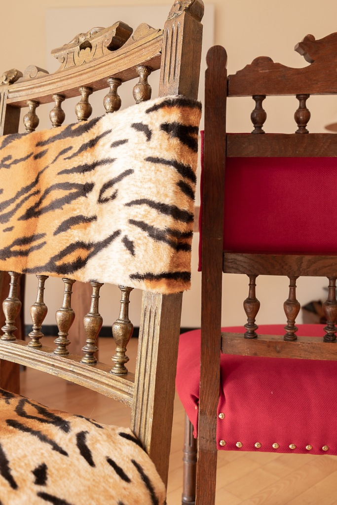 Upcycled Henri II chairs