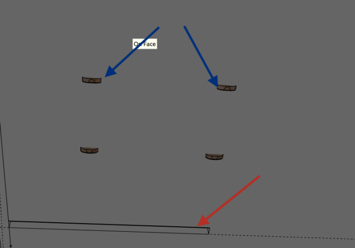 Using SketchUp - Table poping underneath