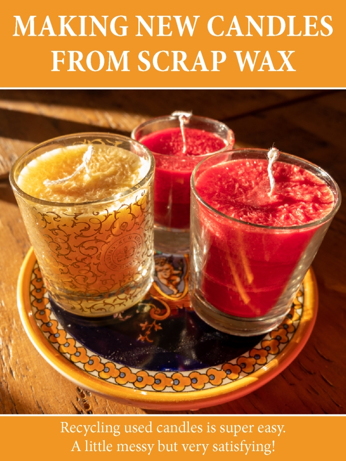 Making new candles from scrap wax is so easy