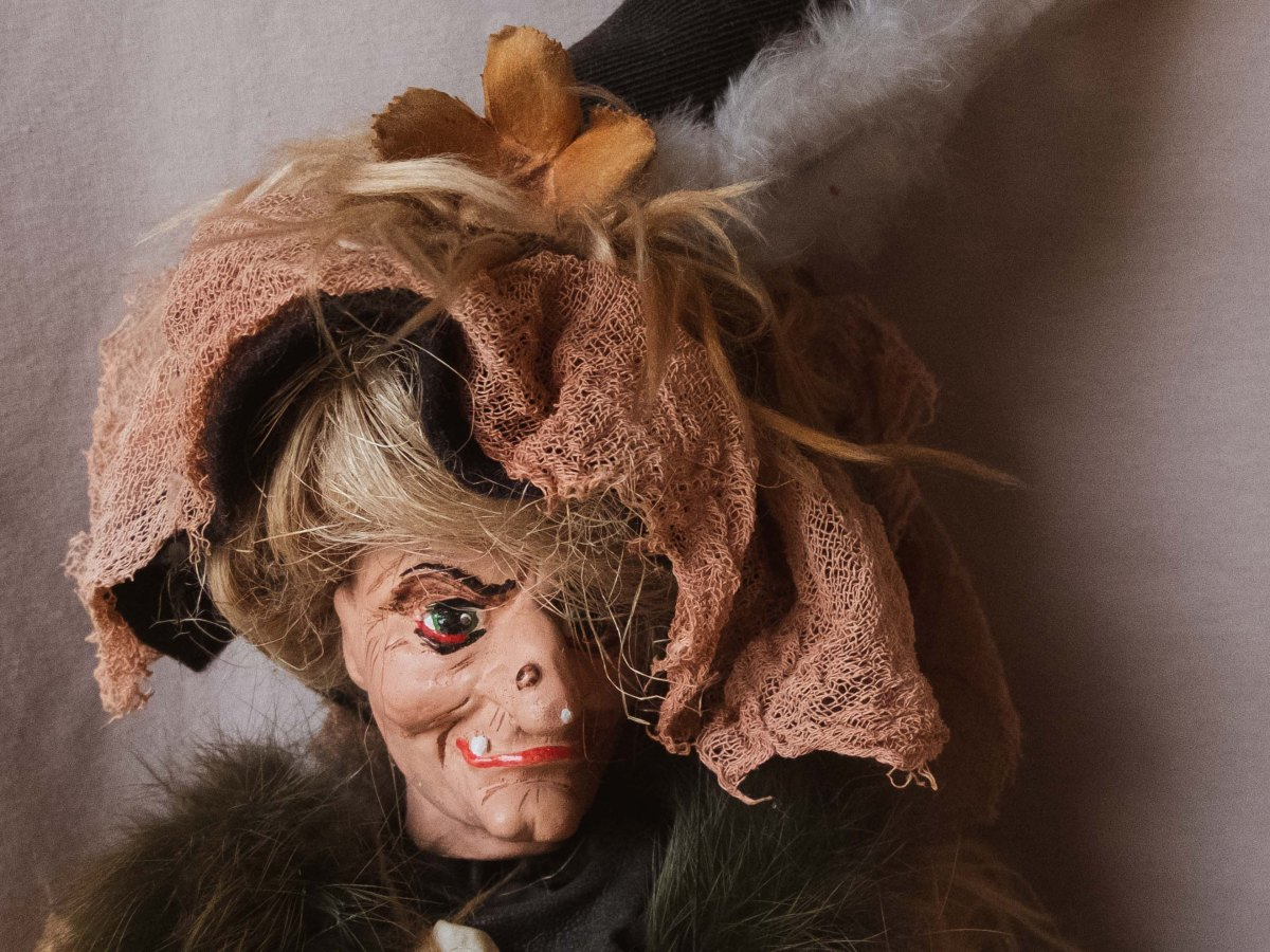 Witch puppet from Prague