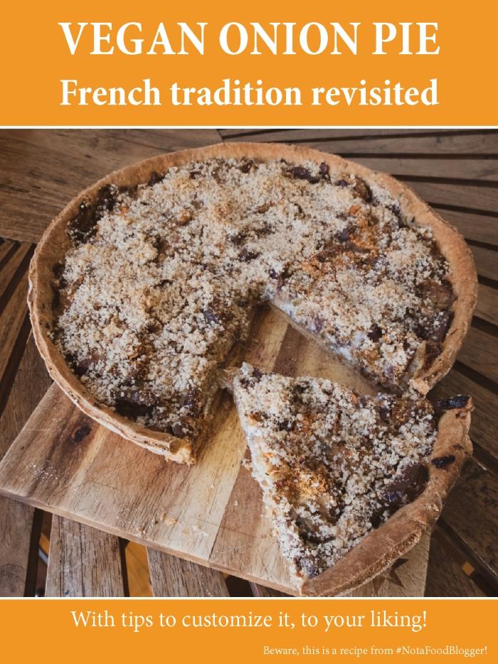 Vegan Onion Pie recipe - traditional dish revisited