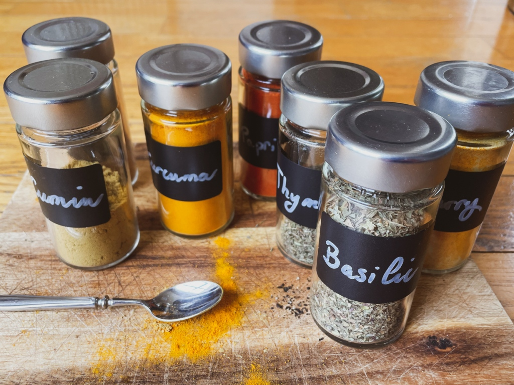 Charcoal stickers for spices