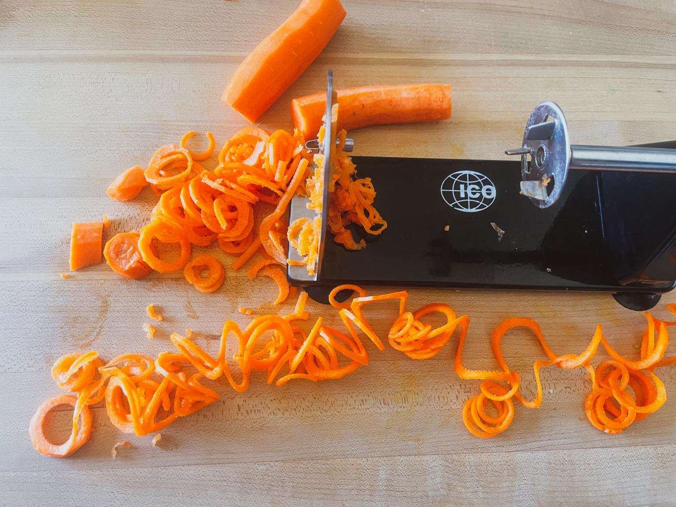 spiralized carrots ninja