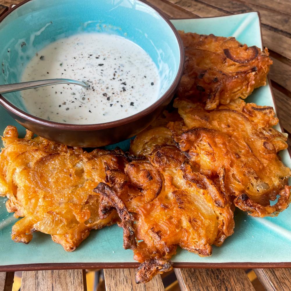Home made onion bhajis! Sooo good!