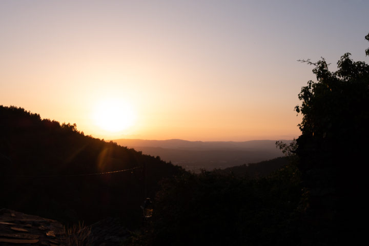Sunset view from the Talasnal Schist Village-Serra-da-Lousã - Portugal
