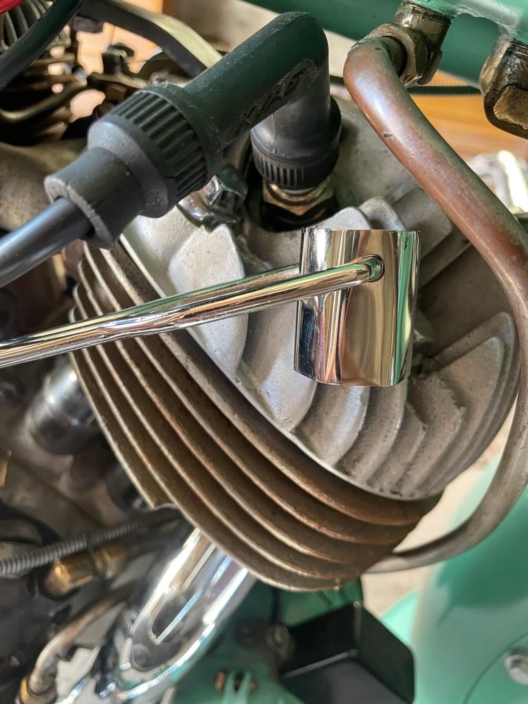 My chromed spark plug wrench